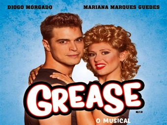 GREASE - O Musical, no Salão Preto e Prata, do Casino do Estoril com Diogo Morgado, Mariana Marques Guedes e um grande elenco por 21€.