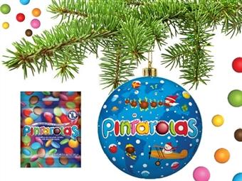 Bolas da PINTAROLAS desde 9.90€. Pendure na sua Árvore uma bola com drageias de chocolate de leite em capa de açucar. PORTES INCLUÍDOS.