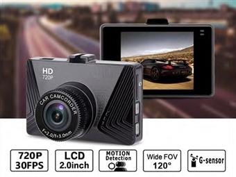 2 em 1: Câmara e Deteção de Movimento para o Carro com LCD HD de 2.0