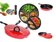 2 Frigideiras com Divisórias: Ideal para Cozinhar muitos Alimentos ao mesmo Tempo