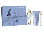 Coffret EDT AGUA FRESCA ROSAS by ADOLFO DOMINGUEZ de 120 ml, Body Lotion 100 ml e mini perfume.