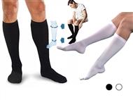 Meias Super Relaxantes Unissexo com 2 Cores à escolha. Alivia as dores das pernas e dos pés.