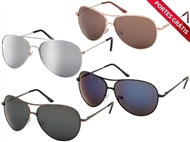 Óculos de Sol estilo Aviator com 4 Modelos à escolha e Proteção UV400. PORTES GRÁTIS.