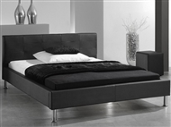 Cama de casal de cor preta com design italiano e moderno. 3 Tamanhos disponíveis.