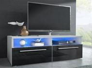 Móvel TV Preto com opção luz Led. Uma excelente oportunidade para mudar a sua sala.