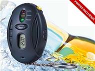 Alcoolímetro Porta-Chaves. Detetor de taxa de álcool no sangue sempre à mão.