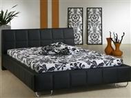 Cama de casal de cor preta com design moderno. 4 Tamanhos disponíveis.
