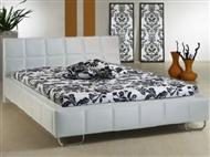 Cama de casal de cor branca com design moderno. 4 Tamanhos disponíveis.