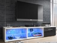 Móvel TV de cor Preta com Luzes Led. Uma excelente oportunidade para mudar a sua sala.