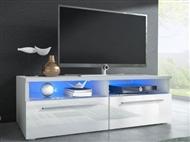 Móvel TV Branco com opção luz Led. Uma excelente oportunidade para mudar a sua sala.