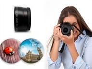 Lente Grande Angular e Macro para Objetivas Canon 58 mm ou Nikon 52mm