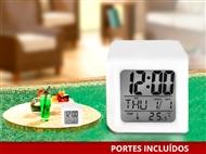 Relógio Despertador com 7 Luzes LED e Termómetro. Crie um Ambiente Colorido e Divertido