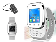 Relógio Telemóvel Desbloqueado, DUAL SIM, Relógio, Câmara e Auricular Bluetooth.