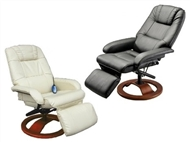 Cadeira Giratória 360º com Massagens por Vibração, Inclinação, Aquecimento Lombar e Comando.