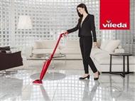 100º C – Hot Spray VILEDA: Mopa com spray de água a 100ºC que limpa e higieniza os pavimentos