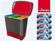 Balde Eco-Logic com 5 Rolos de Sacos de Lixo Style da VILEDA com 5 Rolos de Sacos de Lixo