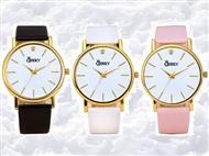 Relógio de Pulso Cheeky Dourado com 3 Cores de Pulseira à escolha. PORTES INCLUÍDOS.
