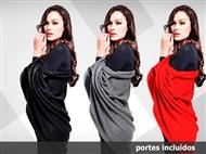 Cardigan disponível em 3 cores e 2 tamanhos para complementar com uma variedade de roupas