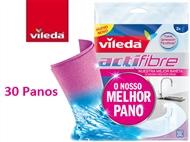 30 Panos Actifibre - O Melhor Pano da VILEDA. Limpa, absorve e retém líquidos como nenhum outro.