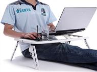 Mesa para Portátil ou Tablet com Hub USB, Ventilador Duplo, Cabo USB.