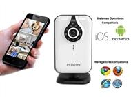 Câmara de Monitorização e Vigilância com Visão Noturna: Vigie através do Smartphone, Tablet ou PC