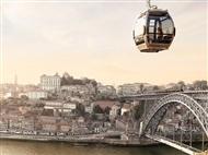 GAIA e PORTO: 2 Noites de Hotel, Passeio de Teleférico, Cruzeiro das 6 Pontes, Visitas, etc.