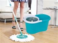 Esfregona Mágica Rotativa 360º com Balde Especial. Limpa mais rápido e com menos esforço.
