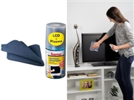 Conjunto de Limpeza de Televisores Planos ou Curvos com Spray e Pano Microfibras. PORTES INCLUIDOS.