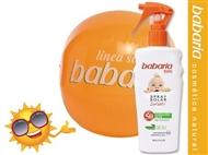 Protetor Solar Infantil Spray SPF50 de 150 ml e Bola de Praia da BABARIA.