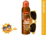 Bronzeador Spray Solar Seco SPF20 de 200 ml e Óculos de Sol da BABARIA.