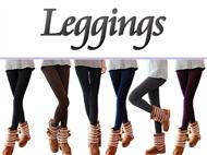 Conjunto de 6 Leggings Térmicos de 6 Cores. Esteja na moda sem frio! PORTES INCLUIDOS.