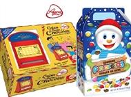NATAL da REGINA: Caixa de Furos de Chocolates e Gomas e ou Boneco de Neve Pintarolas.