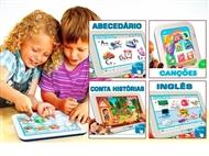 Tablet Didático: Primeiras Canções, Os Animais, Conta Histórias, Abecedário Português ou Inglês.