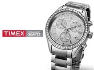 Relógio de Pulso TIMEX com Cristais. Esplendor de Beleza! PORTES INCLUIDOS.
