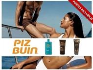 Conjunto PIZ BUIN SOL: Loção de Longa Duração, Creme Facial e AFTER SUN. Pele Bronzeada e Hidratada