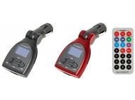 Transmissor FM/MP3 para o Carro com Comando à Distância e Suporta Cartões SD e MMC até 32GB