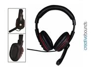 Auscultadores Gaming HPG com Hi-Fi Stereo e Microfone: para Música, TV e Jogos Online no seu PC.
