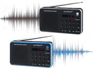 Rádio Digital Portátil com 70 Pressintonizações, Lê Cartões, USB, MP3 e Ligação para Auriculares