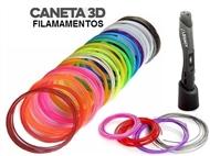 Filamentos para a sua Caneta 3D: Super-Pack de 270 metros de Filamentos com 9 Cores Distintas