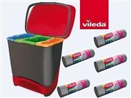 Balde Eco-Logic com 5 Rolos de Sacos de Lixo Ecobag da VILEDA com 5 Rolos de Sacos de Lixo