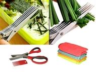 Tesoura Multi-Lâmina para Cozinhar com OFERTA de 4 Panos de Microfibra.