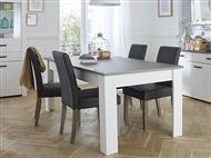 Mesa de Refeições Extensível em Carvalho Branco e Prateado: Ideal para Reunir a sua Família e Amigos