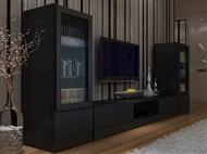 Conjunto de Móveis de Sala em Wengue: Um Design Urbano e Espaçoso para Decorar a sua Sala