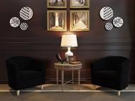 Sofá Individual em Tecido Preto: Um Design Versátil para o Espaço que Pretende na sua Sala.