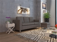 Sofá com Chaise-Longue em Tecido de Cor Cinza: Um Modelo Dinâmico e Urbano para a sua Sala