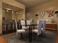 Mesa de Refeições em Vidro e 6 Cadeiras em Polipele: Estilo Urbano e Prático para sua Casa