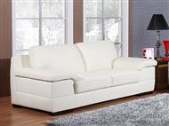 Sofá em Pele Sintética de Cor Branca com Opção de Escolha de 2 ou 3 Lugares: Perfeito para sua Sala