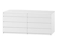 Cómoda com 8 Gavetas em Branco: Prático para a Organização do dia a dia para o seu Quarto
