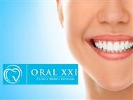Limpeza Dentária, Polimento, Fluorização e Branqueamento com Jacto Bicarbonato na Oral XXI