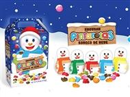 Boneco de Neve Pintarolas da REGINA: Caixinha Cheia de Coloridos Pedaços de Chocolate